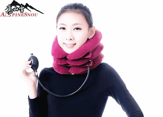 China Home Portable Neck Traction Pink Full Flannel With 3 Tube Free Size supplier