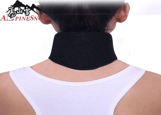 China Self Heating Magnets Black Neck Support Belt Tourmaline Cloth For Men And Women supplier