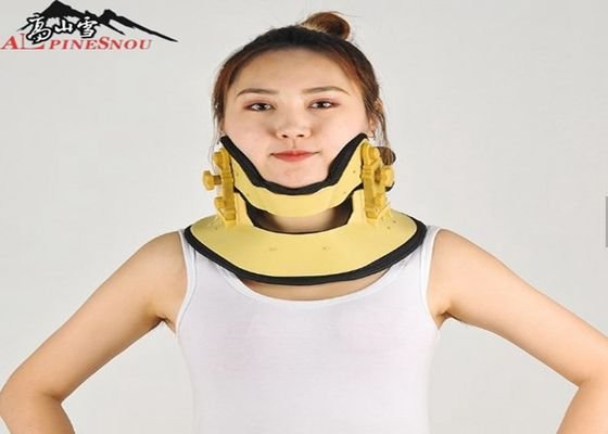 China Adjustable Cervical Traction Device Support Inflatable Neck Brace Yellow Color supplier