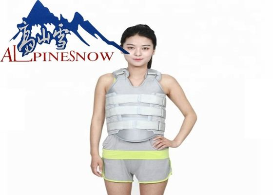 China Thermoplastic Thoracic Spinal Orthosis Back Brace With Tightness Adjustable Straps supplier