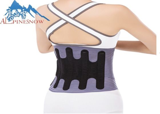 China Factory price wholesale adjustable therapy lumbar metal fabric back brace for waist support supplier