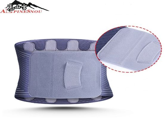 China Multi Color Sport Slimming Magnetic Back Brace Lumbar Waist Support Fish Ribbon Materials supplier