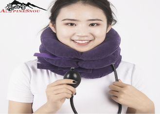 China Inflatable Cervical Collar / Air Pump Cervical Traction Collar For Neck Brace supplier