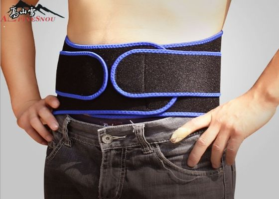 Breathable Adjustable Neoprene Lumbar Back Suport Belt , Fitness Waist Trimmer Belt