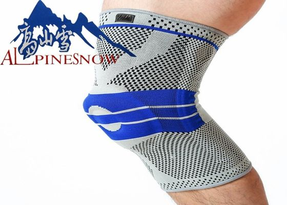 Compression Knee Sleeve 3D Silicone Pads Knee Support Brace High Elastic Fabric