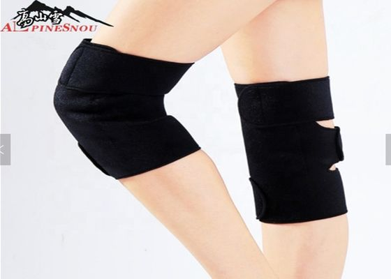 Neoprene Tourmaline Heated Knee Pads Magnetic Knee Support Brace Black Color
