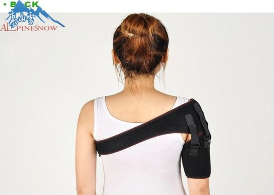 Adjustable Elastic Orthopedic Shoulder Support Brace S M L Size Black Color