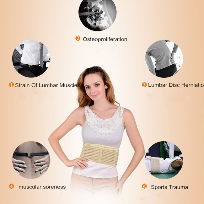 Tourmaline Self heating Warm Waist Support Belt Magnetic Therapy Belt Brace