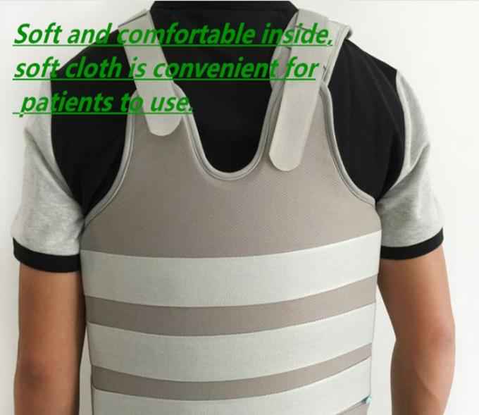 Thermoplastic Thoracic Spinal Orthosis Back Brace With Tightness Adjustable Straps