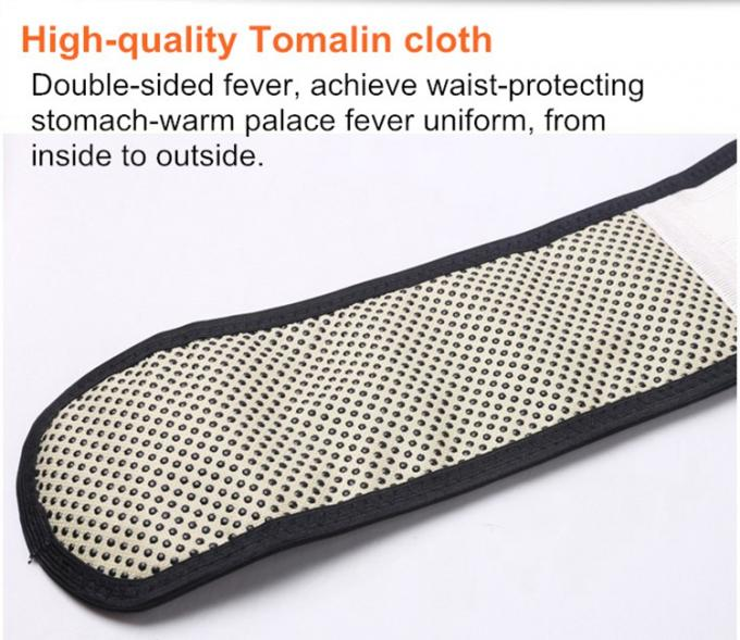 Magnetic Self Heating Tourmaline Belt , Tourmaline Waist Belt Neoprene Cloth