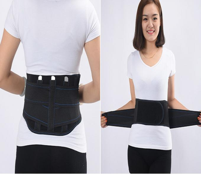 Back Support Waist Belt Self Heating Double Pull Straps Compression Tourmaline Magnets Fabric For Posture or Pain Relief
