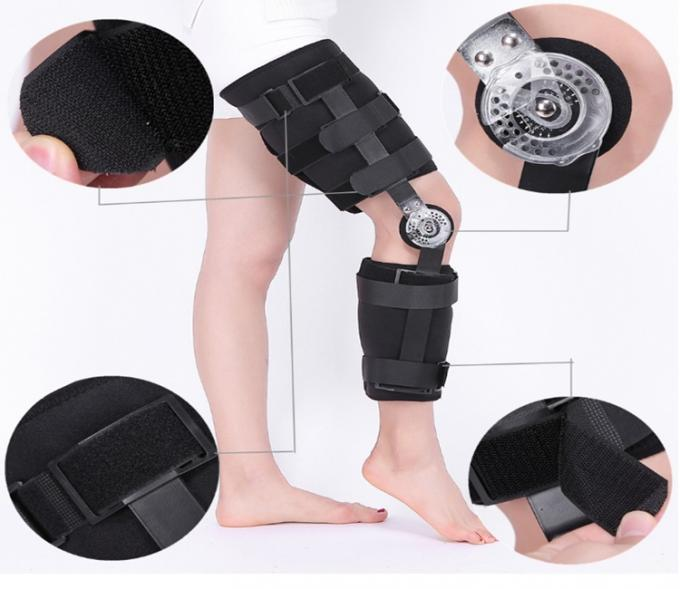 Medical Post-op Knee Support / Orthopedic Angle Adjustable Rom Neoprene Hinged Knee Brace and Support