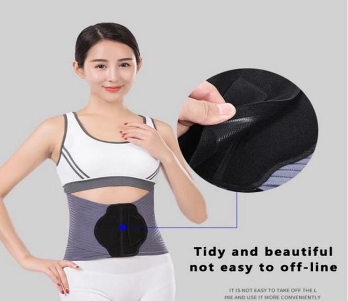 Factory price wholesale adjustable therapy lumbar metal fabric back brace for waist support