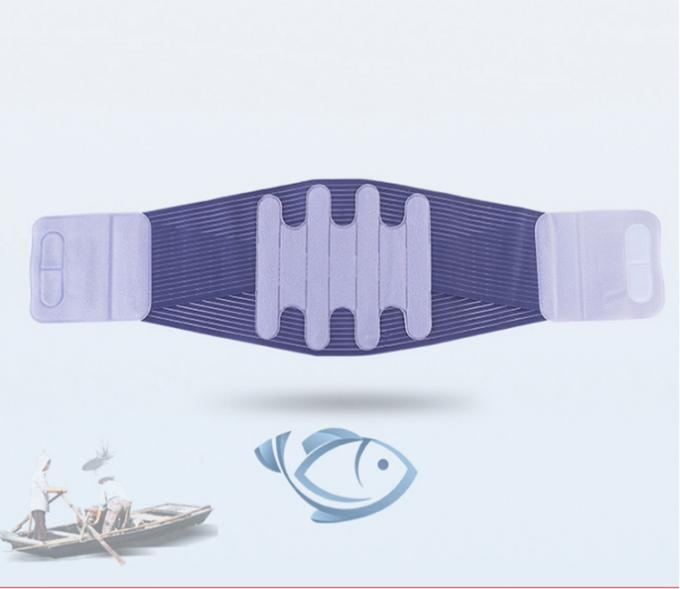 Multi Color Sport Slimming Magnetic Back Brace Lumbar Waist Support Fish Ribbon Materials